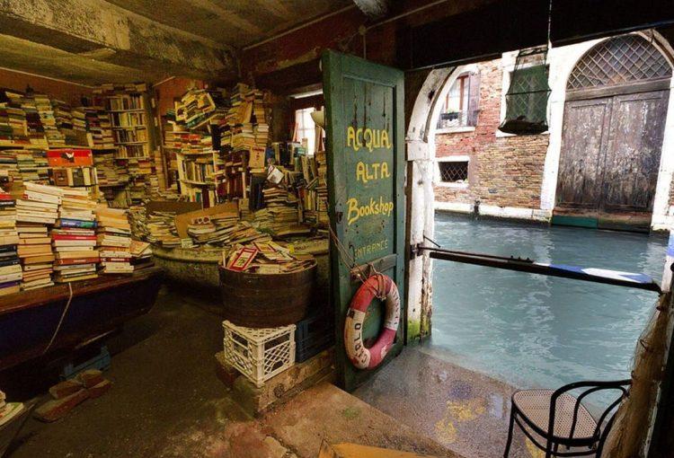 Libreria Acqua Alta Cinco librerías más hermosas del mundo