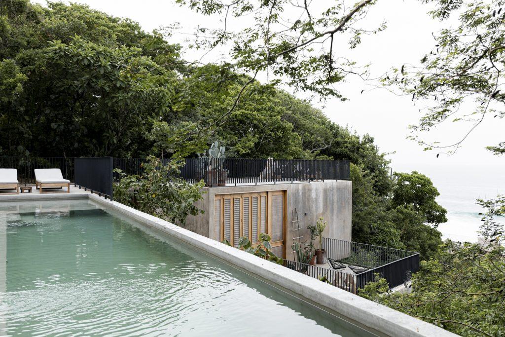 Vista de la piscina de Casa La Extraviada